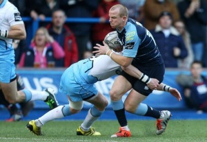 Dan Fish on the attack last time v Glasgow