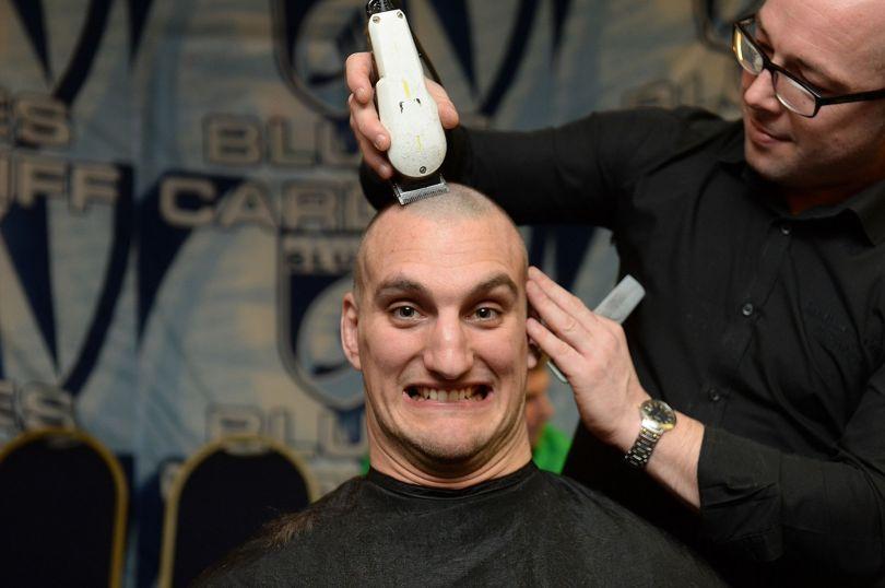 Sam Warburton head shave