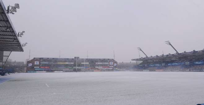 Cardiff Arms Park snow