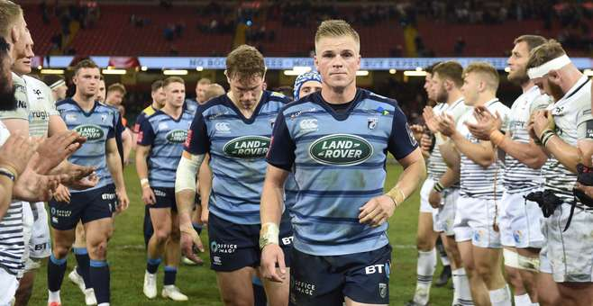 Cardiff Blues team Ospreys