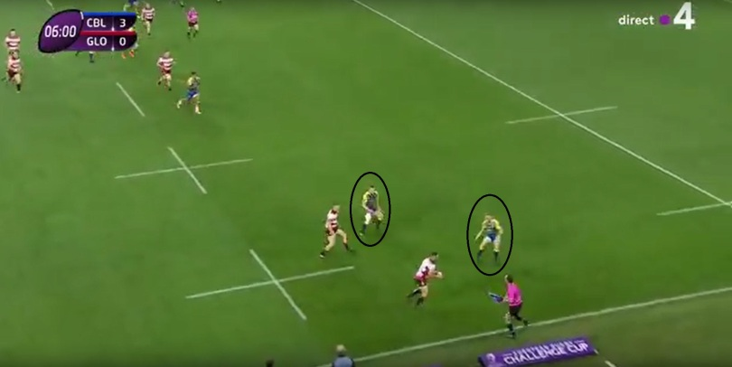 Gloucester kick defence 2