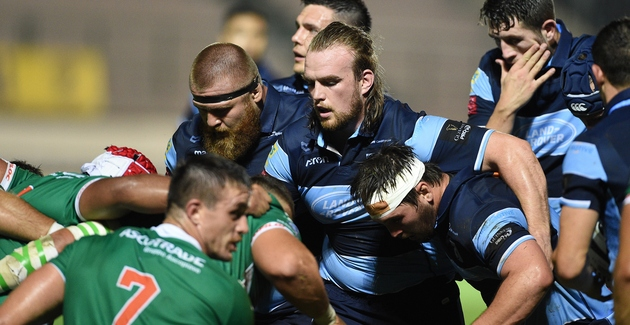 Benetton Cardiff Blues scrum