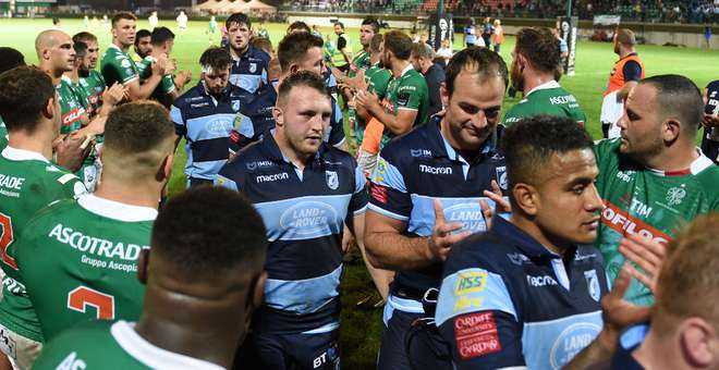 Benetton Cardiff Blues team