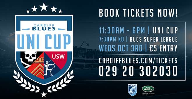 Cardiff Blues Uni Cup 2018
