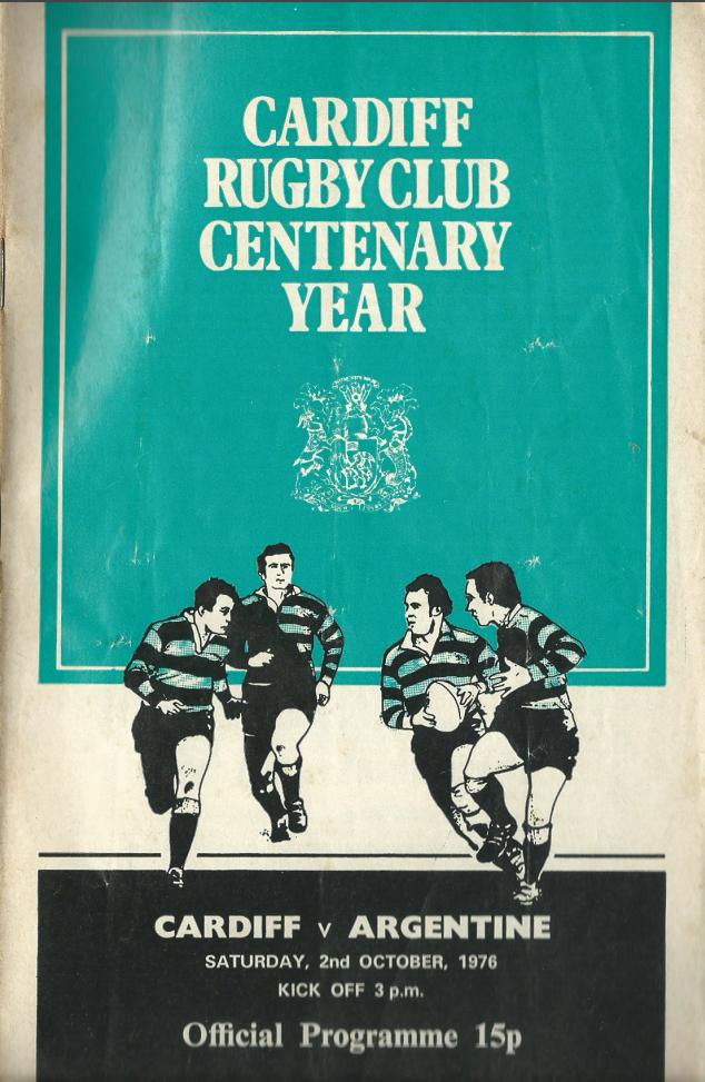 Cardiff v Argentina Prog 1976