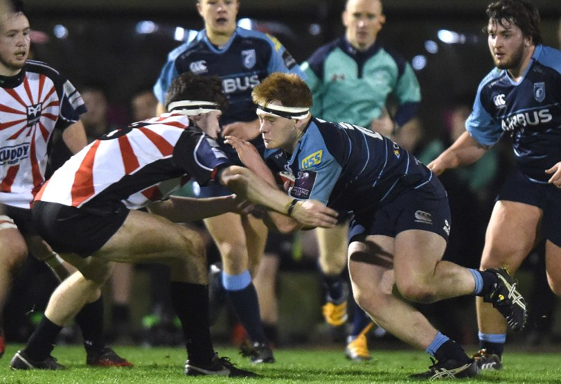 18.01.17 - Ospreys Under 18s v Blues Under 18s -Iestyn Harris of Blues.